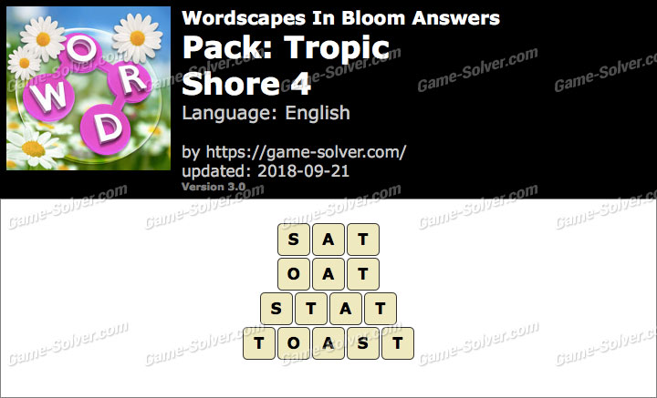 Wordscapes In Bloom Tropic-Shore 4 Answers