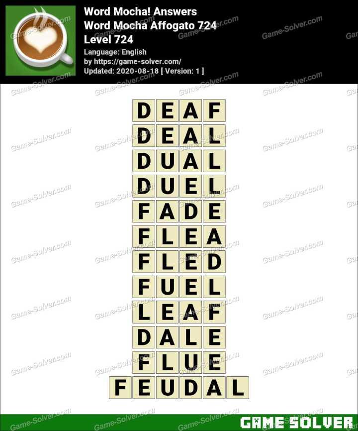Word Mocha Affogato 724 Answers