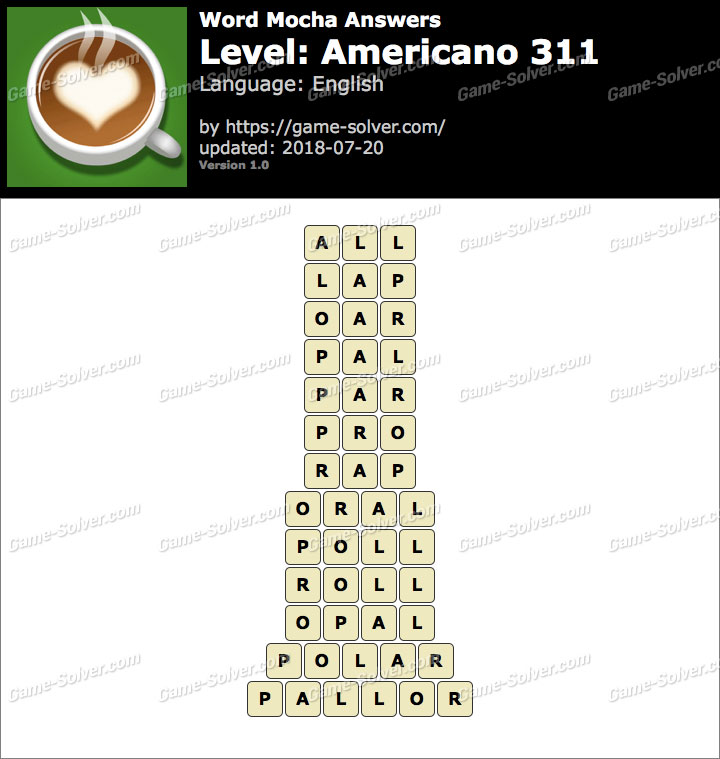 Word Mocha Americano 311 Answers