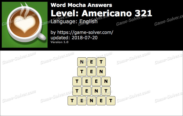 Word Mocha Americano 321 Answers