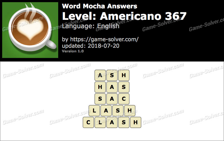 Word Mocha Americano 367 Answers