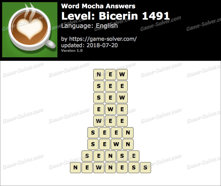 Word Mocha Bicerin 1491 Answers