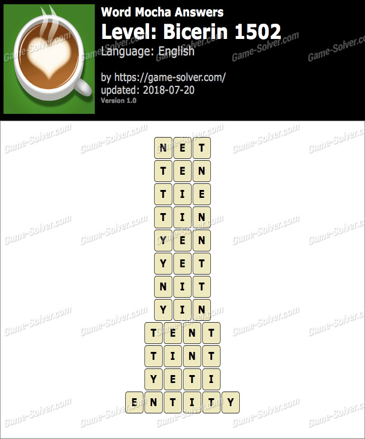 Word Mocha Bicerin 1502 Answers