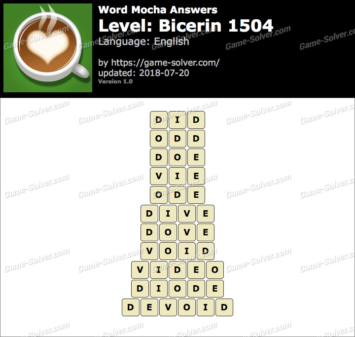 Word Mocha Bicerin 1504 Answers