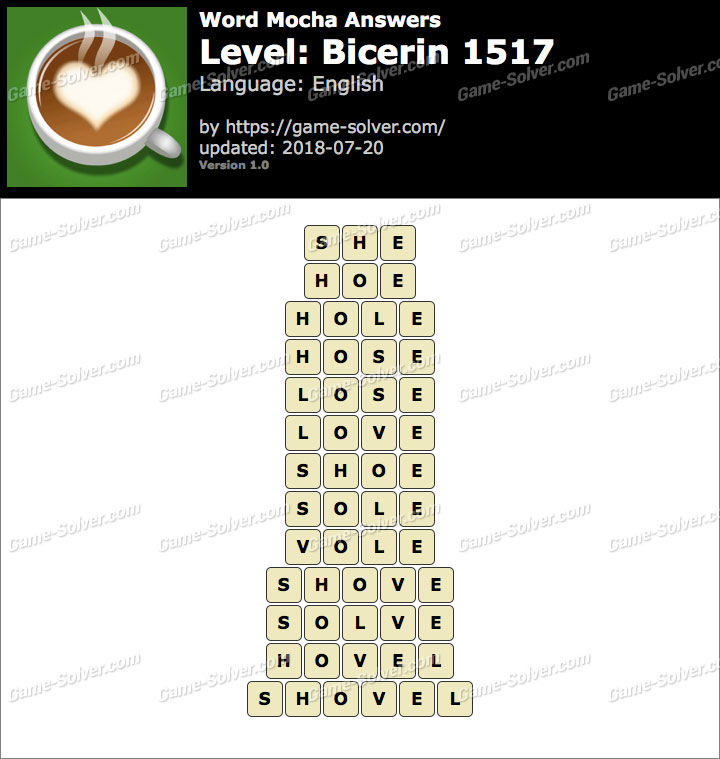 Word Mocha Bicerin 1517 Answers
