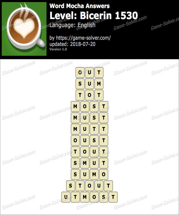 Word Mocha Bicerin 1530 Answers