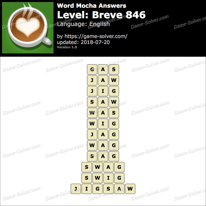 Word Mocha Breve 846 Answers