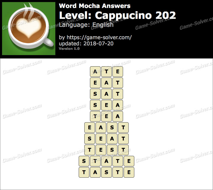 Word Mocha Cappucino 202 Answers