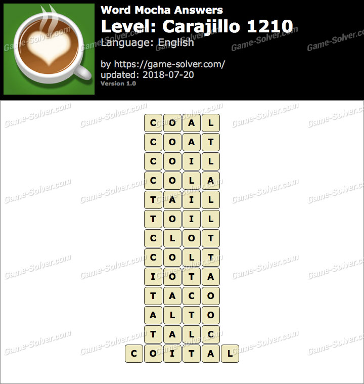 Word Mocha Carajillo 1210 Answers