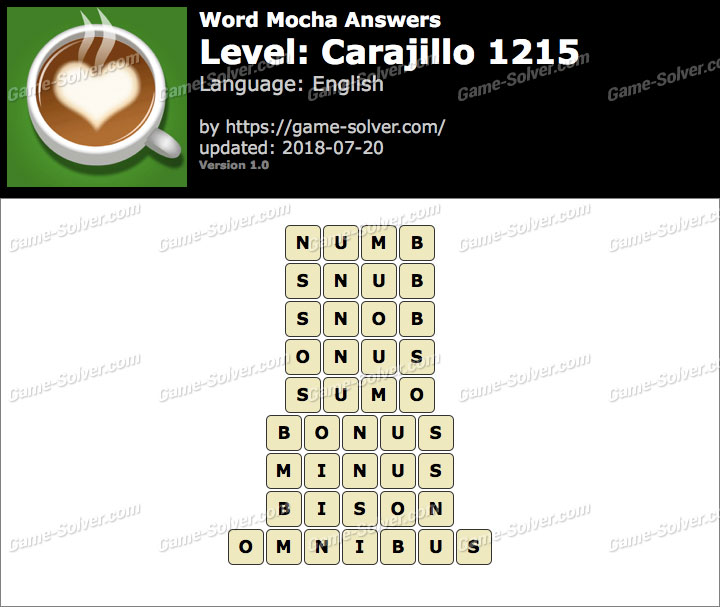 Word Mocha Carajillo 1215 Answers