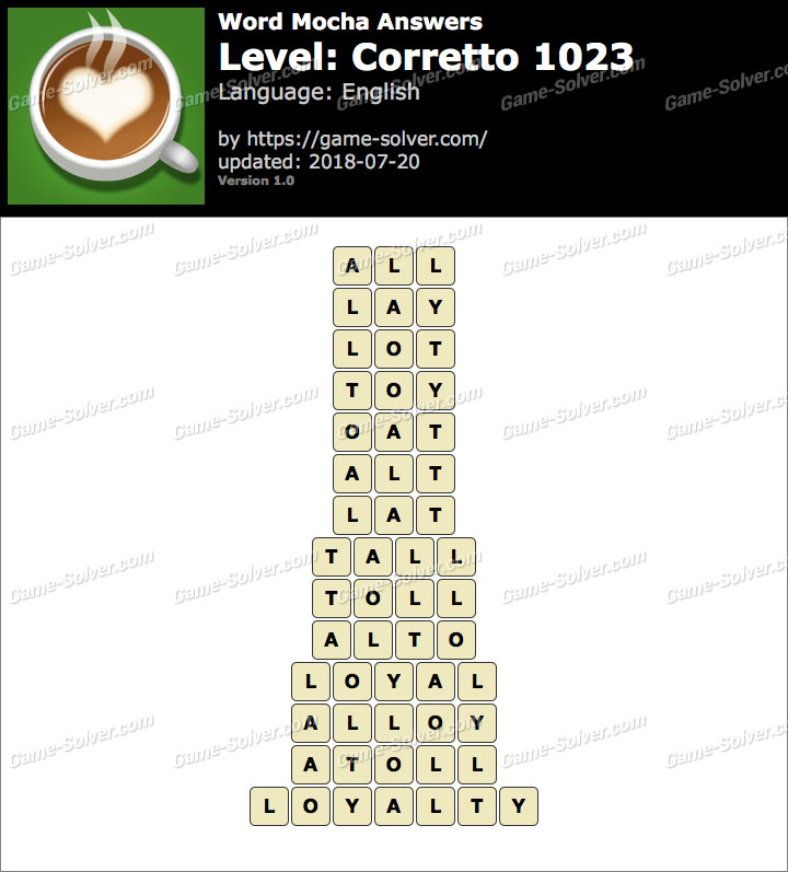Word Mocha Corretto 1023 Answers
