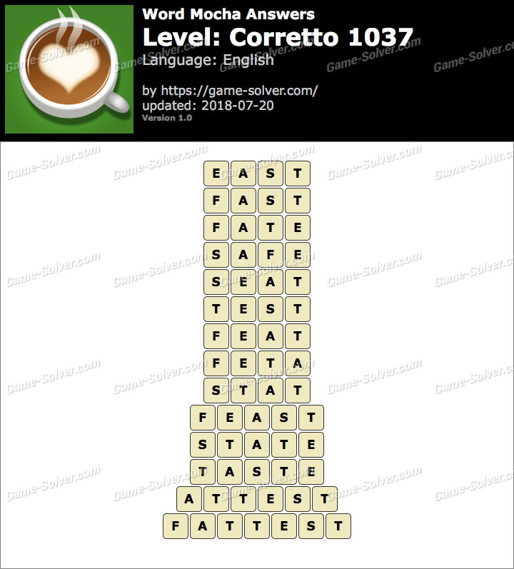 Word Mocha Corretto 1037 Answers