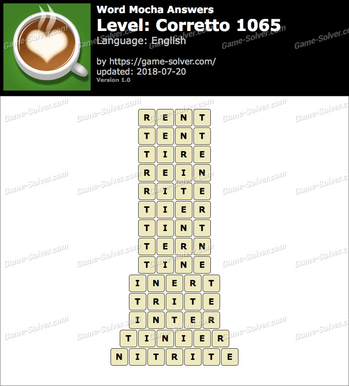 Word Mocha Corretto 1065 Answers