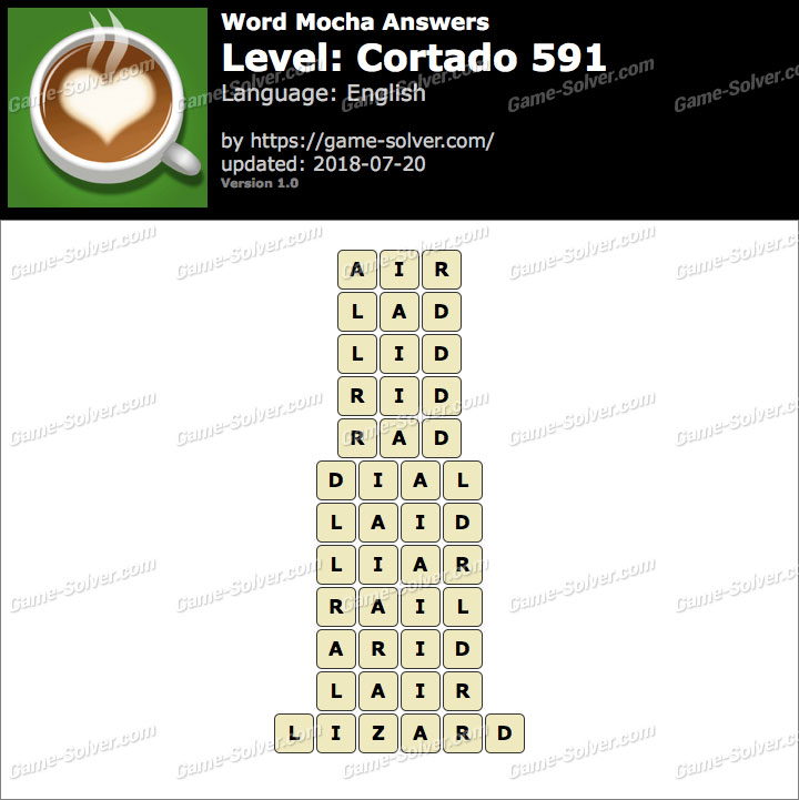 Word Mocha Cortado 591 Answers