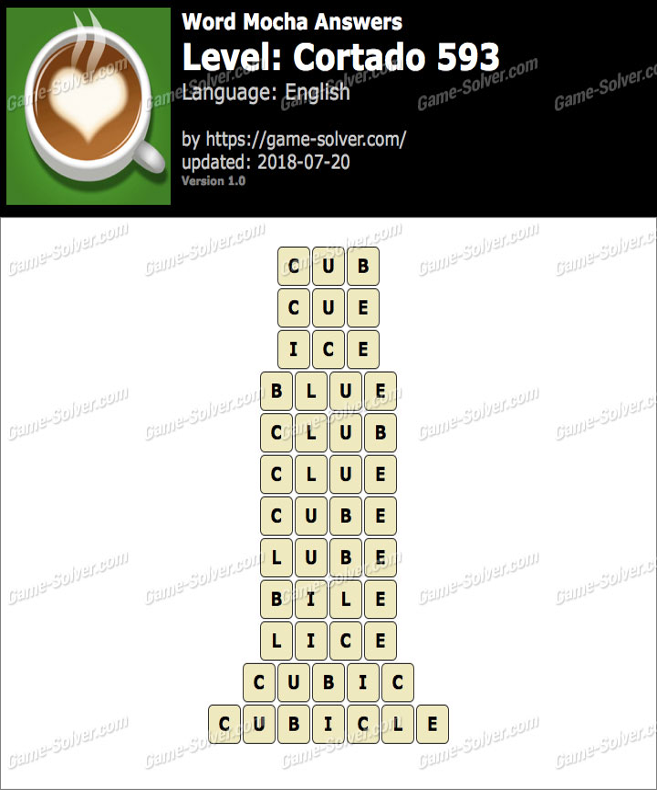 Word Mocha Cortado 593 Answers