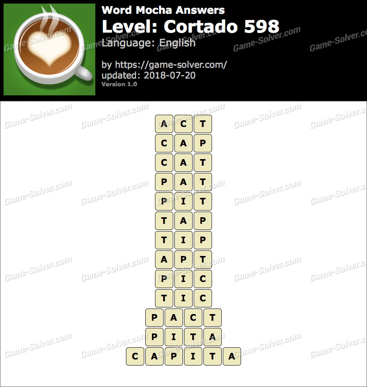 Word Mocha Cortado 598 Answers