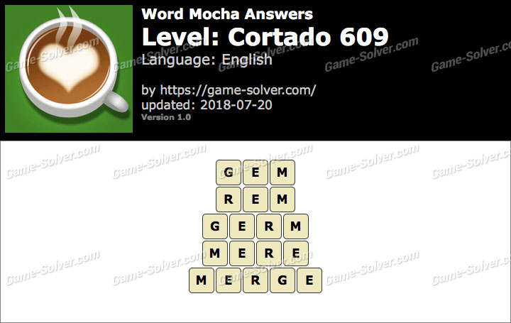 Word Mocha Cortado 609 Answers