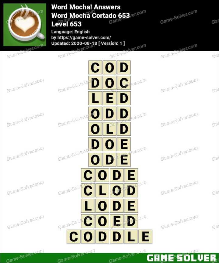 Word Mocha Cortado 653 Answers