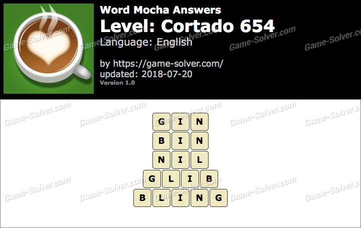 Word Mocha Cortado 654 Answers