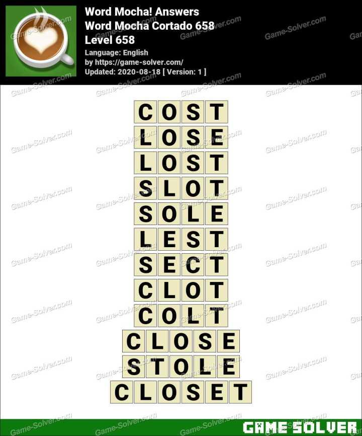 Word Mocha Cortado 658 Answers