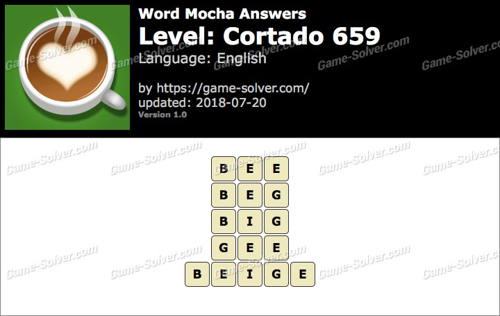 Word Mocha Cortado 659 Answers
