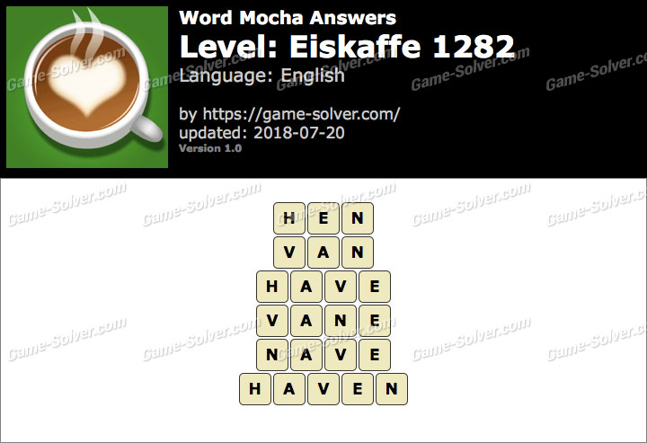 Word Mocha Eiskaffe 1282 Answers