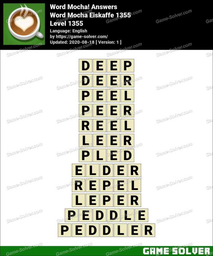 Word Mocha Eiskaffe 1355 Answers