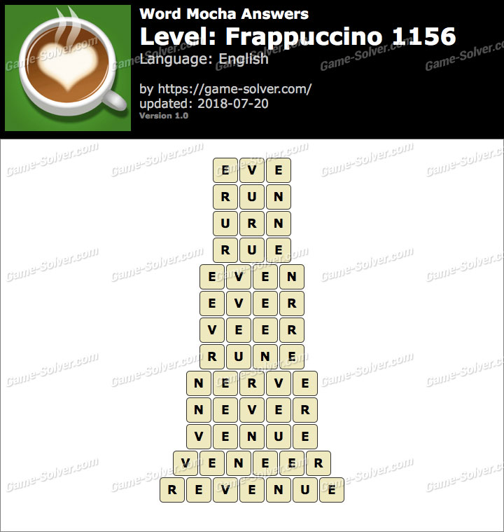 Word Mocha Frappuccino 1156 Answers