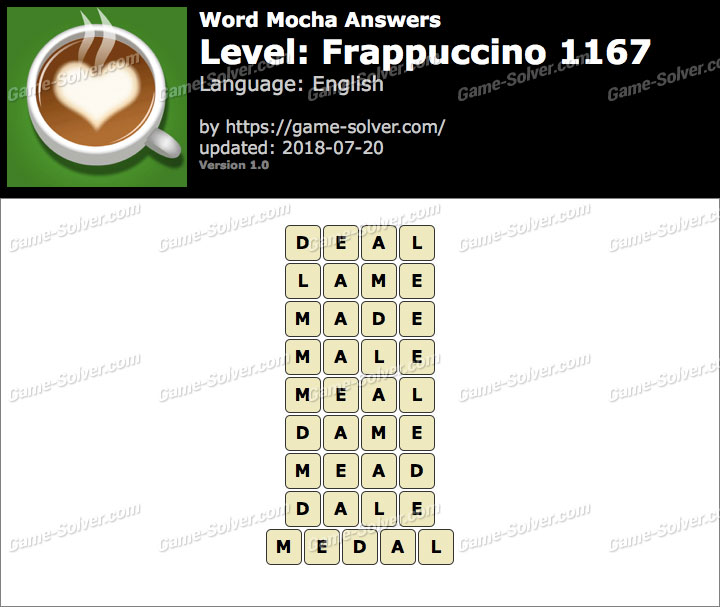 Word Mocha Frappuccino 1167 Answers