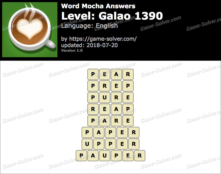 Word Mocha Galao 1390 Answers