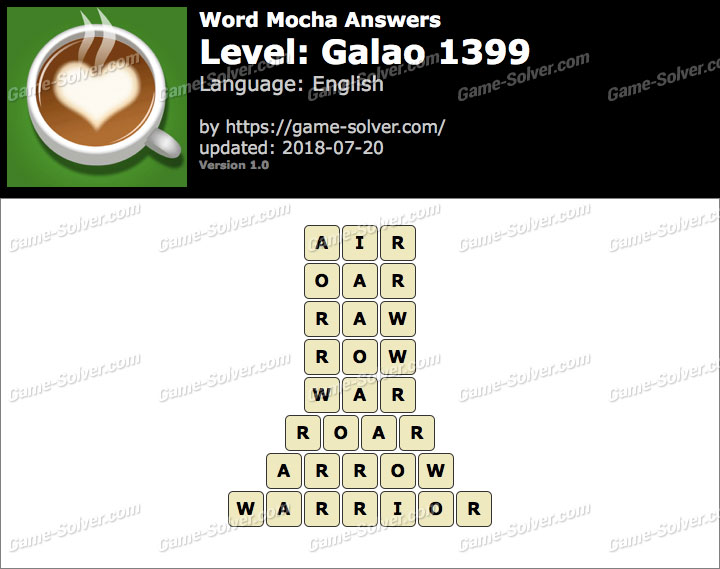 Word Mocha Galao 1399 Answers