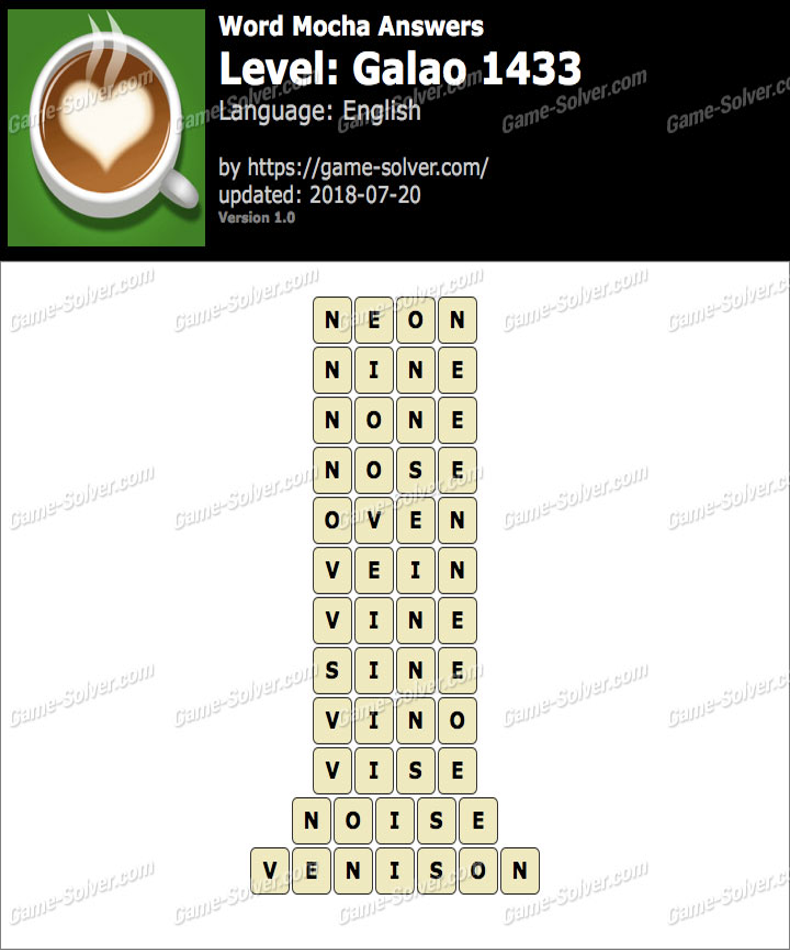 Word Mocha Galao 1433 Answers