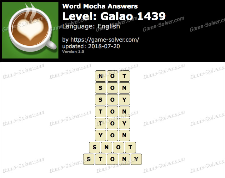Word Mocha Galao 1439 Answers