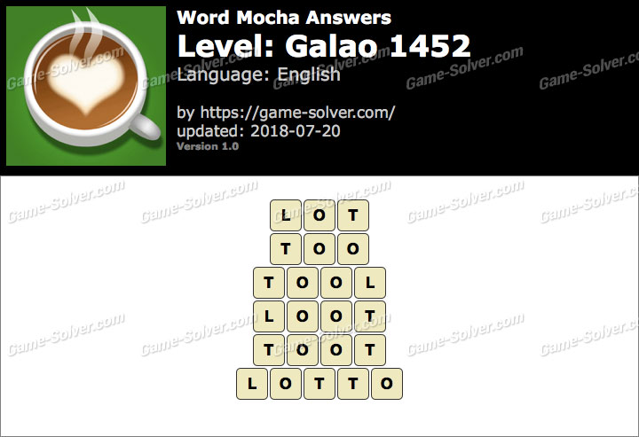 Word Mocha Galao 1452 Answers