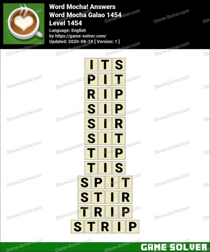 Word Mocha Galao 1454 Answers