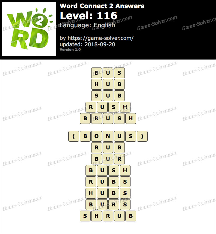 Word Connect 2 Level 116 Answers