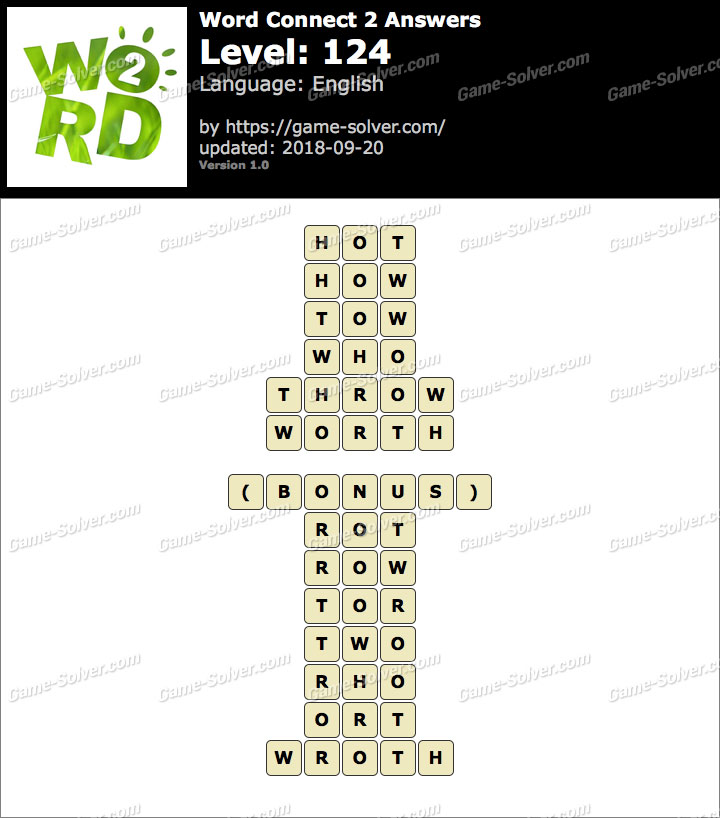 Word Connect 2 Level 124 Answers