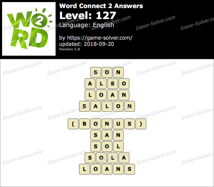 Word Connect 2 Level 127 Answers