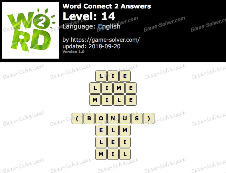 Word Connect 2 Level 14 Answers