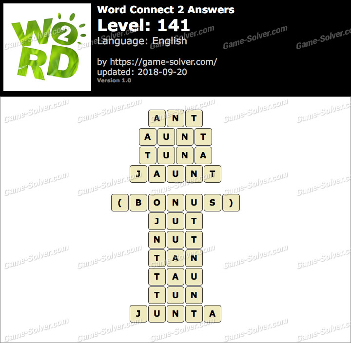 Word Connect 2 Level 141 Answers
