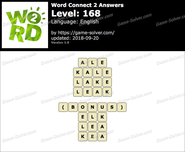Word Connect 2 Level 168 Answers
