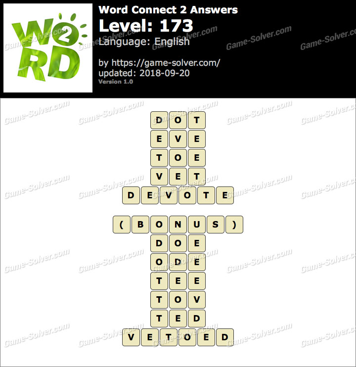 Word Connect 2 Level 173 Answers