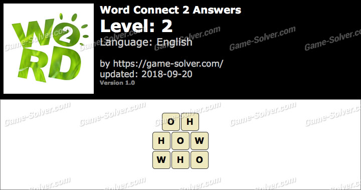 Word Connect 2 Level 2 Answers
