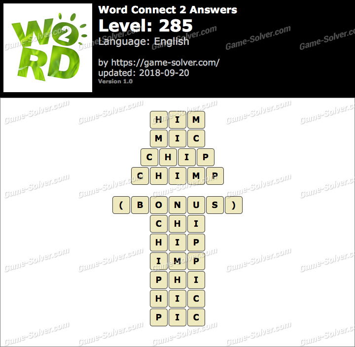 Word Connect 2 Level 285 Answers