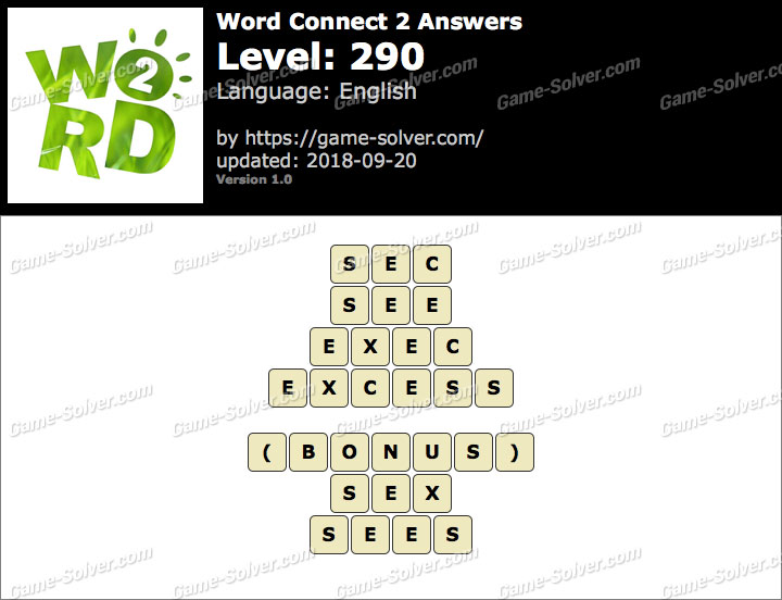 Word Connect 2 Level 290 Answers