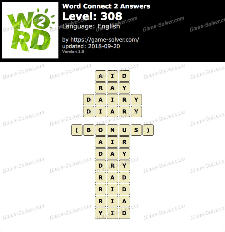 Word Connect 2 Level 308 Answers