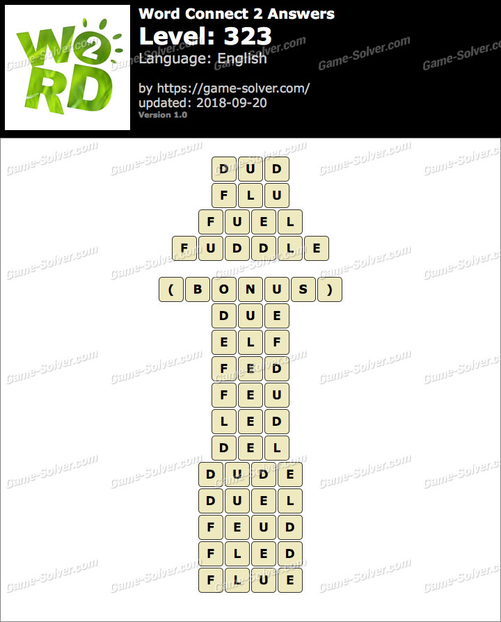 Word Connect 2 Level 323 Answers