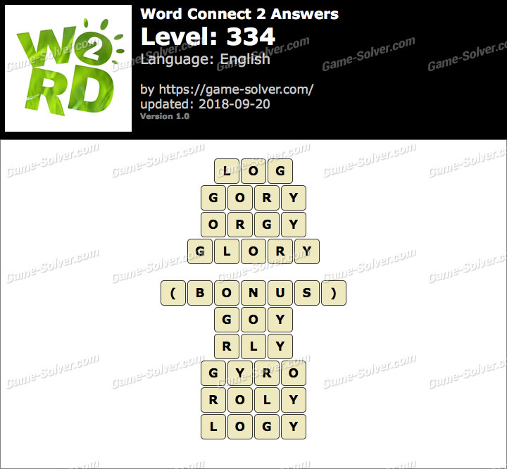 Word Connect 2 Level 334 Answers