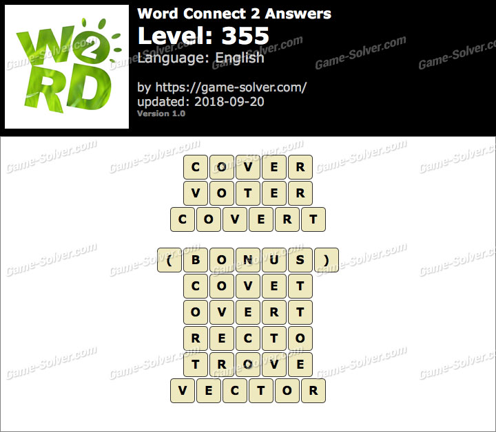 Word Connect 2 Level 355 Answers