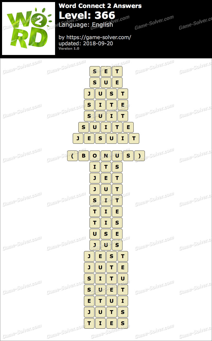 Word Connect 2 Level 366 Answers